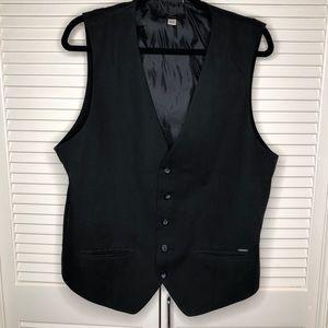 Diesel Black Tux Vest
